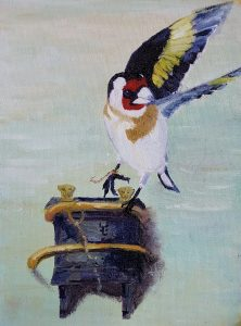 goldfinch Fabritius update oil painting